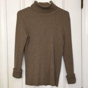 JEANNE PIERRE Brown Turtleneck Sweater
